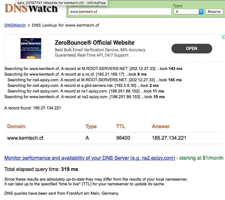 WEBSITE DOMAIN CAN'T FIND SERVER, DOMAIN IP address: 403 Forbidden